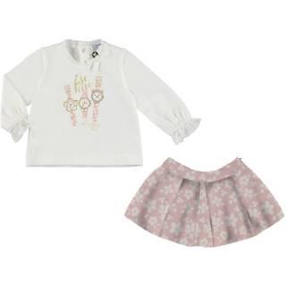 Conjunto - Conjunto falda jacquard flores