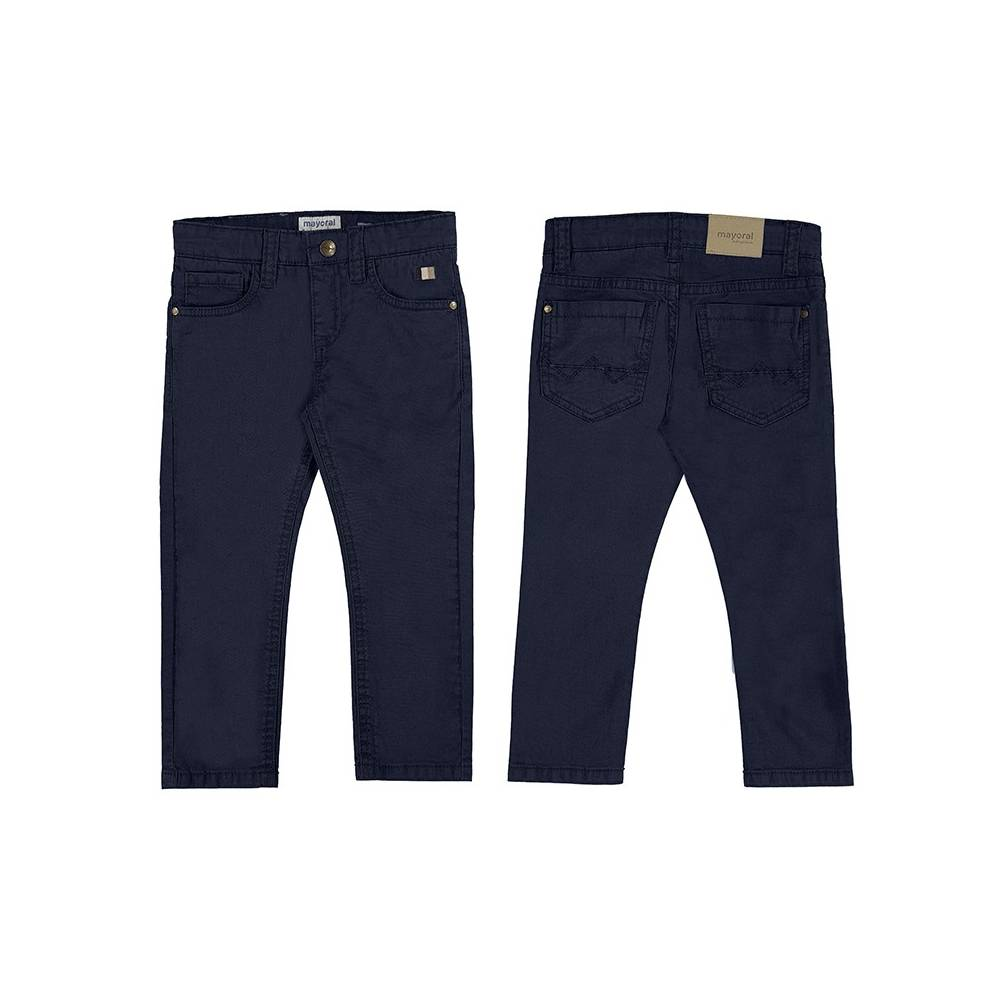 Pantalón - Pantalón sarga slim fit