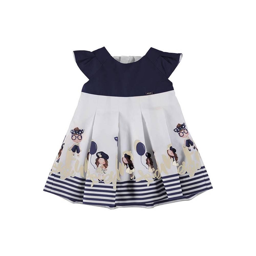 Vestido - Vestido cenefa niñas