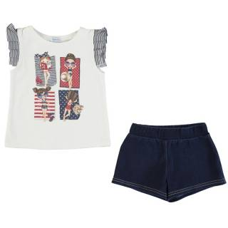 Conjunto - Conjunto short denim