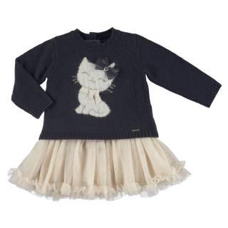 Vestido - Vestido tricot tul