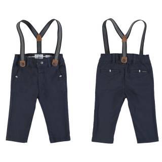 Pantalón - Pantalón chino pique tirantes