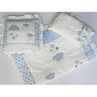Cobertor para cuna-Celeste